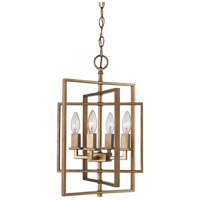 El Capitan 4 Light 14 inch Antique Gold Pendant Ceiling Light