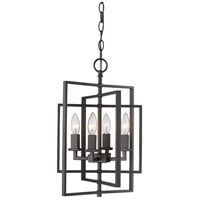 El Capitan 4 Light 14 inch Rubbed Oil Bronze Pendant Ceiling Light