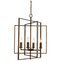 El Capitan 4 Light 20 inch Antique Gold Pendant Ceiling Light