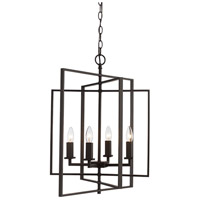El Capitan 4 Light 20 inch Rubbed Oil Bronze Pendant Ceiling Light