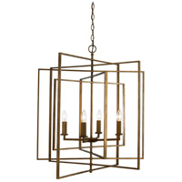 El Capitan 4 Light 26 inch Antique Gold Pendant Ceiling Light