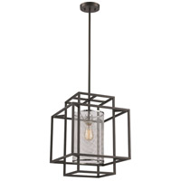 Empire 1 Light 15 inch Black and Polished Chrome Pendant Ceiling Light