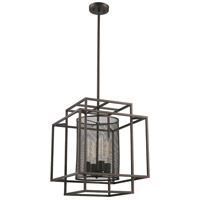 Empire 4 Light 17 inch Rubbed Oil Bronze Pendant Ceiling Light