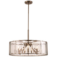 Vernon 8 Light 27 inch Antique Silver Leaf Pendant Ceiling Light