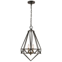 Premiere 2 Light 13 inch Black and Antique Brass Pendant Ceiling Light