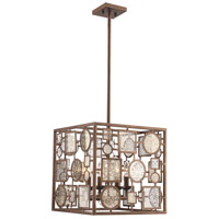 Festival 4 Light 15 inch Antique Gold Pendant Ceiling Light