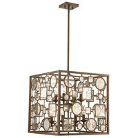Festival 8 Light 18 inch Antique Gold Pendant Ceiling Light