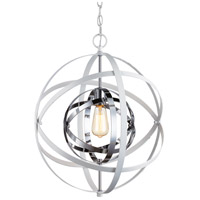Trans Globe Lighting 10791-WH/PC Monrovia 1 Light 18 inch White and Polished Chrome Pendant Ceiling Light