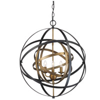 Trans Globe Lighting 10793-AG/BK Monrovia 3 Light 22 inch Antique Gold and Black Pendant Ceiling Light