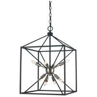 Donovan 8 Light 16 inch Brushed Nickel and Black Pendant Ceiling Light