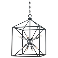 Trans Globe Lighting 10808-PC/BK Donovan 8 Light 16 inch Polished Chrome and Black Pendant Ceiling Light