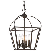 Trans Globe Lighting 10814-ROB Agnew 4 Light 12 inch Rubbed Oil Bronze Pendant Ceiling Light