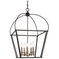 Trans Globe Lighting 10815-BK/BN Agnew 5 Light 16 inch Black and Brushed Nickel Pendant Ceiling Light