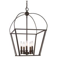 Agnew 5 Light 16 inch Rubbed Oil Bronze Pendant Ceiling Light