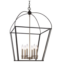Agnew 6 Light 20 inch Black and Brushed Nickel Pendant Ceiling Light
