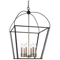 Trans Globe Lighting 10816-BK/BN Agnew 6 Light 20 inch Black and Brushed Nickel Pendant Ceiling Light