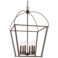 Agnew 6 Light 20 inch Rubbed Oil Bronze Pendant Ceiling Light