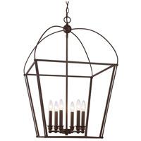 Trans Globe Lighting 10816-ROB Agnew 6 Light 20 inch Rubbed Oil Bronze Pendant Ceiling Light