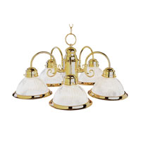 Basics 5 Light 23 inch Polished Brass Chandelier Ceiling Light