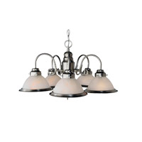 Basics 5 Light 23 inch Brushed Nickel Chandelier Ceiling Light