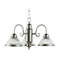 Trans Globe Lighting Back To Basics 3 Light Chandelier in Brushed Nickel 1095-BN