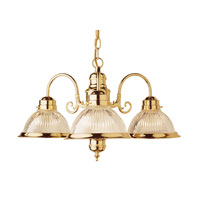 Trans Globe Basics 3 Light Chandelier in Polished Brass 1095-PB