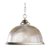 Basics 1 Light 17 inch Brushed Nickel Pendant Ceiling Light