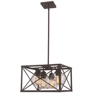 Germain 4 Light 18 inch Rubbed Oil Bronze Pendant Ceiling Light