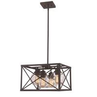 Trans Globe Lighting 11054-ROB Germain 4 Light 18 inch Rubbed Oil Bronze Pendant Ceiling Light