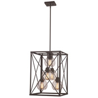 Germain 5 Light 16 inch Rubbed Oil Bronze Pendant Ceiling Light
