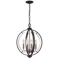 Trans Globe Lighting 11064-BK/BN Chesterfield 4 Light 16 inch Black and Brushed Nickel Pendant Ceiling Light