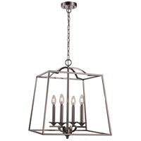 Trans Globe Lighting 11074-PC Georgianna 4 Light 19 inch Polished Chrome Pendant Ceiling Light