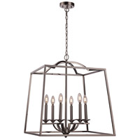 Trans Globe Lighting 11076-PC Georgianna 6 Light 23 inch Polished Chrome Pendant Ceiling Light