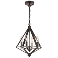 Trans Globe Lighting 11084-BK/PC Glacier 4 Light 14 inch Black and Polished Chrome Pendant Ceiling Light