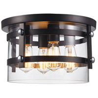 Trans Globe Lighting 14211-BK/PC Anderson 4 Light 14 inch Black and Polished Chrome Flushmount Ceiling Light photo thumbnail