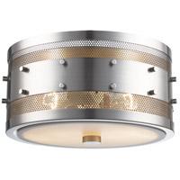 Trans Globe Lighting 14310-BN Column 2 Light 11 inch Brushed Nickel Flushmount Ceiling Light