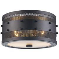 Trans Globe Lighting 14310-ROB Column 2 Light 11 inch Rubbed Oil Bronze Flushmount Ceiling Light