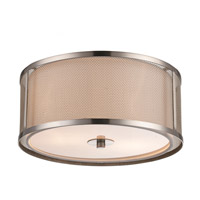 Trans Globe Lighting 15010-BN Landau 2 Light 12 inch Brushed Nickel Flushmount Ceiling Light
