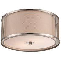 Trans Globe Lighting 15011-BN Landau 3 Light 14 inch Brushed Nickel Flushmount Ceiling Light