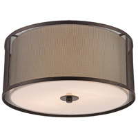 Trans Globe Lighting 15011-ROB Landau 3 Light 14 inch Rubbed Oil Bronze Flushmount Ceiling Light