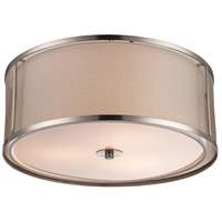 Trans Globe Lighting 15012-BN Landau 3 Light 16 inch Brushed Nickel Flushmount Ceiling Light