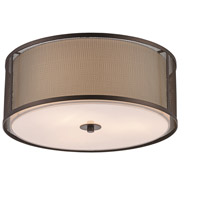 Trans Globe Lighting 15012-ROB Landau 3 Light 16 inch Rubbed Oil Bronze Flushmount Ceiling Light