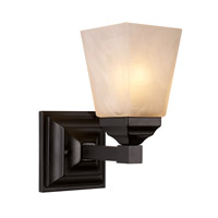 Trans Globe Mission Hall 1 Light Bath Bar in Black 20331-BK