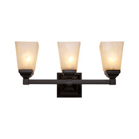 Signature 3 Light 20 inch Black Vanity Light Wall Light