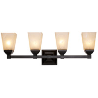 Val Verde 4 Light 27 inch Black Vanity Bar Wall Light