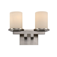 Trans Globe Downtown 2 Light Bath Bar in Brushed Nickel 20362-BN