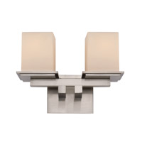 Trans Globe Downtown 2 Light Bath Bar in Brushed Nickel 20372-BN