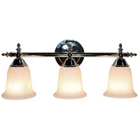 Gassaway 3 Light 22 inch Polished Chrome Vanity Bar Wall Light