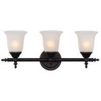 Gassaway 3 Light 22 inch Rubbed Oil Bronze Vanity Bar Wall Light