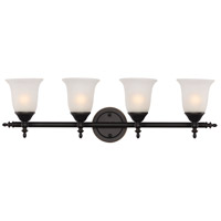 Gassaway 4 Light 29 inch Rubbed Oil Bronze Vanity Bar Wall Light